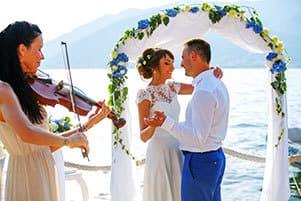 скрипка на свадьбе в черногории